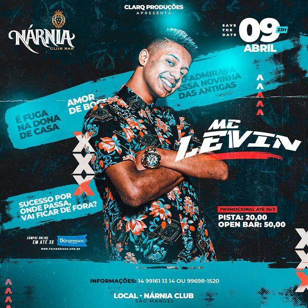 MC Levin - Nárnia Club Bar - 09/04/20 - São Manuel - SP