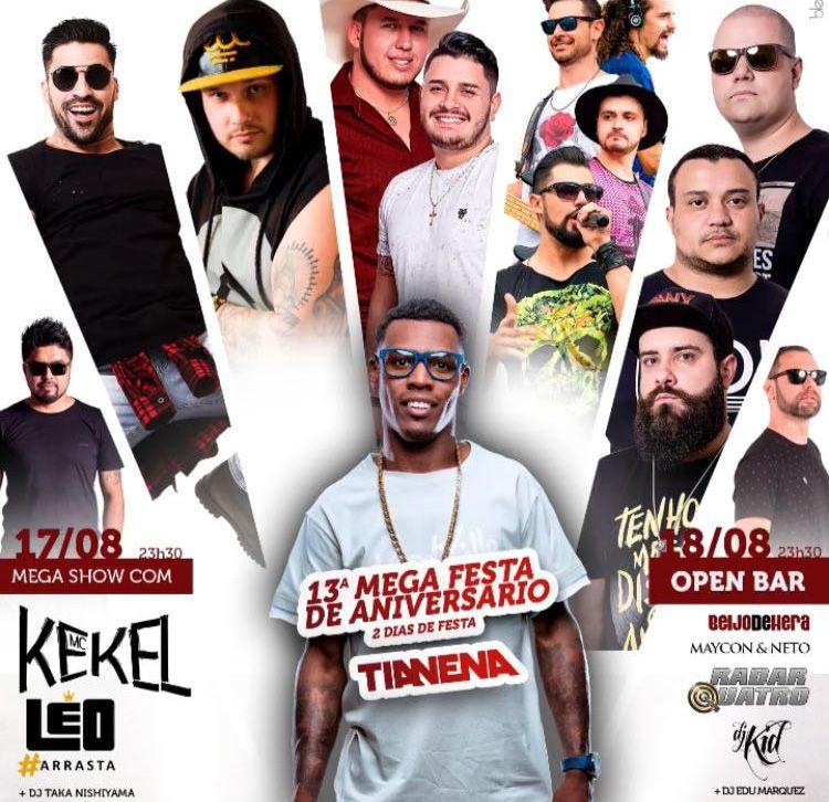 Mega Aniversário TiaNena c/ MC Kekel - 17/08/18 - Mogi Guaçu - SP
