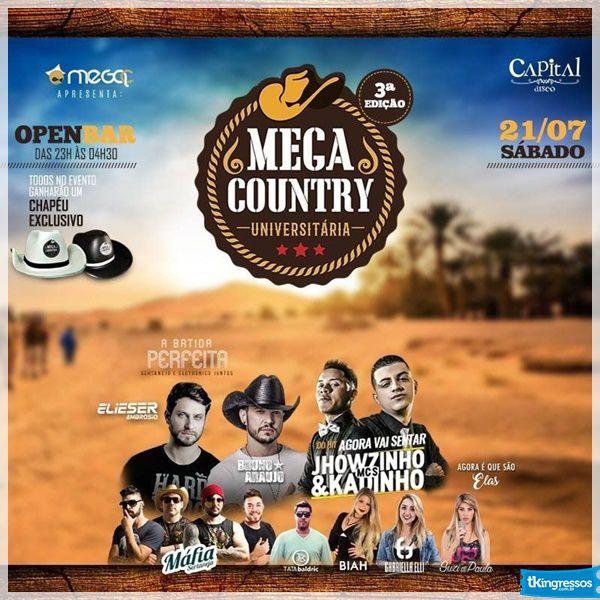 MegaCountry Open Bar - 21/07/18 - Santos - SP