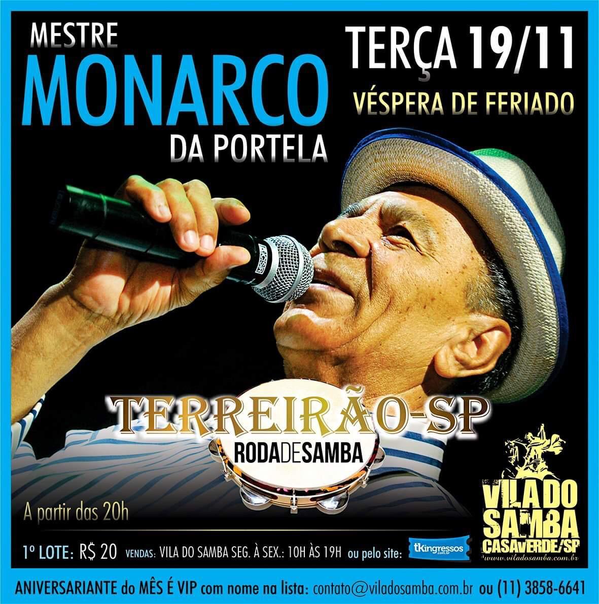 Mestre Monarco - Vila do Samba - 19/11/19 - São Paulo - SP