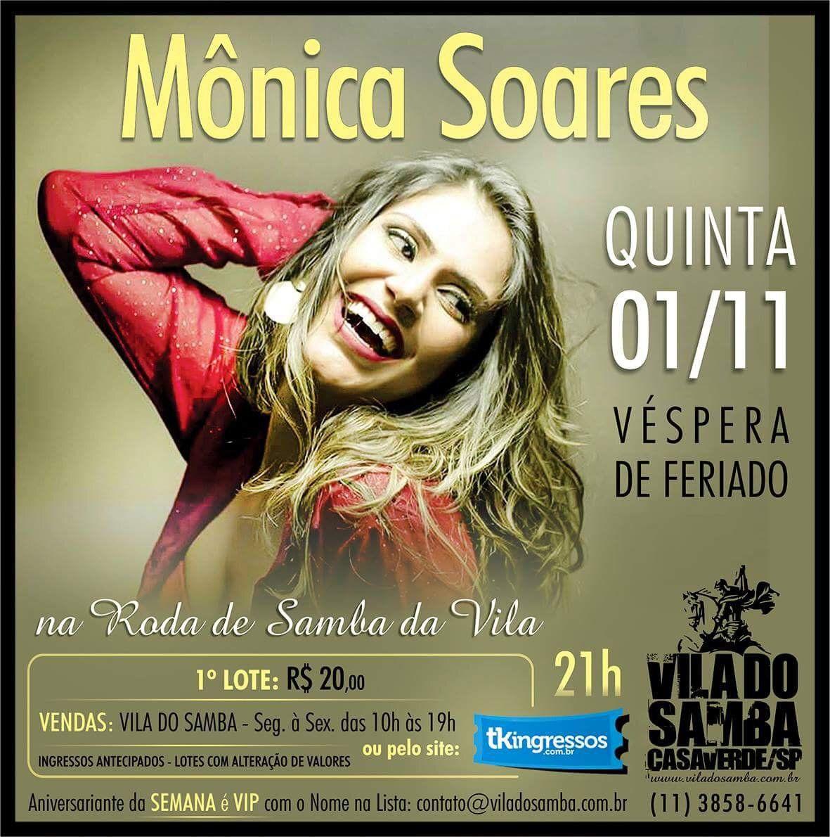 Mônica Soares - Vila do Samba - 01/11/18 - São Paulo - SP