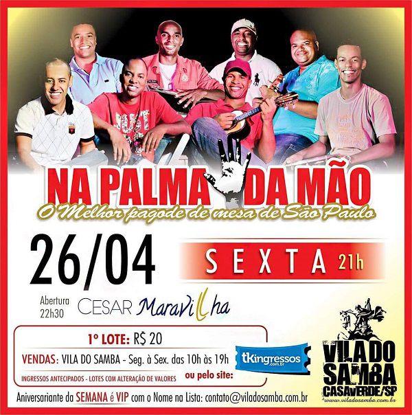 Na Palma da Mão - Vila do Samba - 26/04/19 - São Paulo - SP