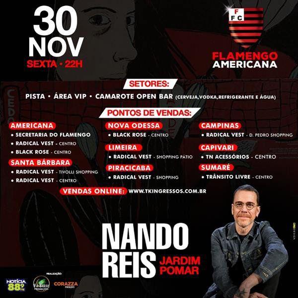 Nando Reis - Via Brasil - 30/11/18 - Americana - SP