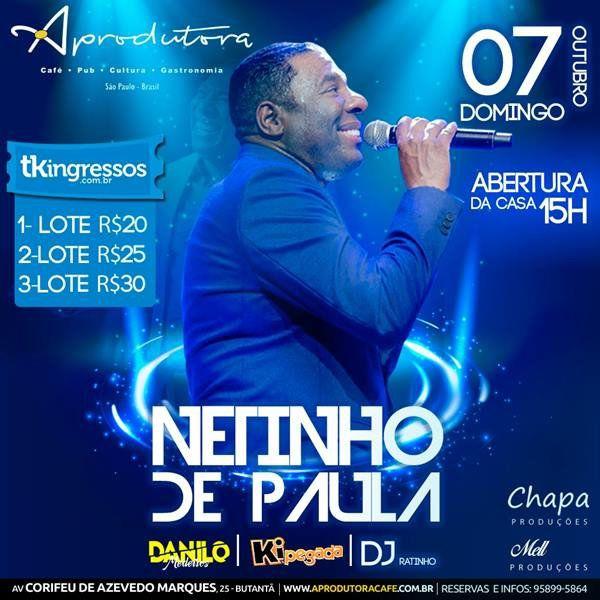 Netinho de Paula - 07/10/18 - São Paulo - SP
