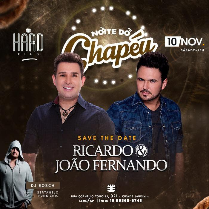 Noite do Chapéu - Hard Club - 10/11/18 - Leme - SP