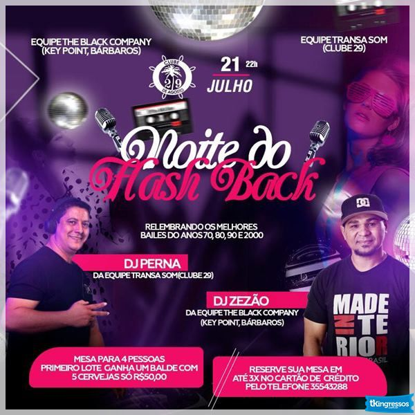 Noite do Flash Back - 21/07/18 - Leme - SP