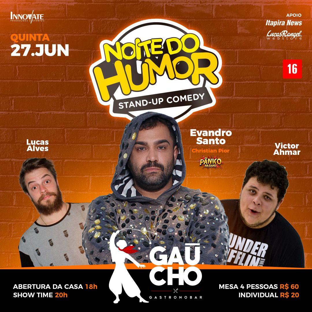 Noite do Humor - Gaucho Gastronobar - 27/06/19 - Mogi Mirim - SP