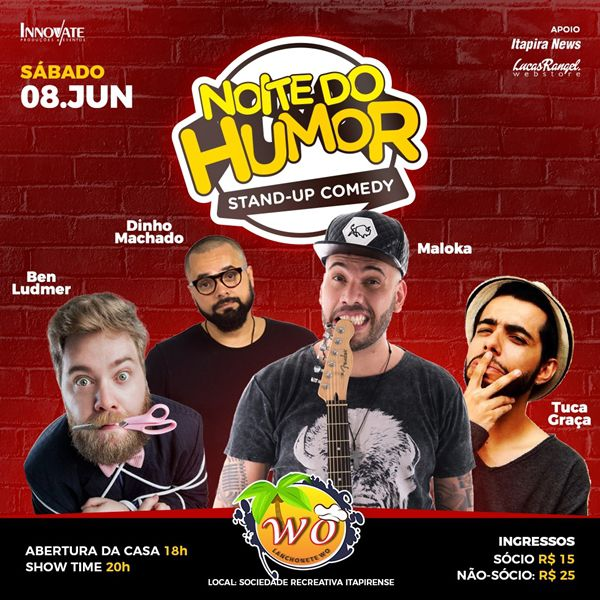 Noite do Humor - Lanchonete W.O - 08/06/19 - Itapira - SP