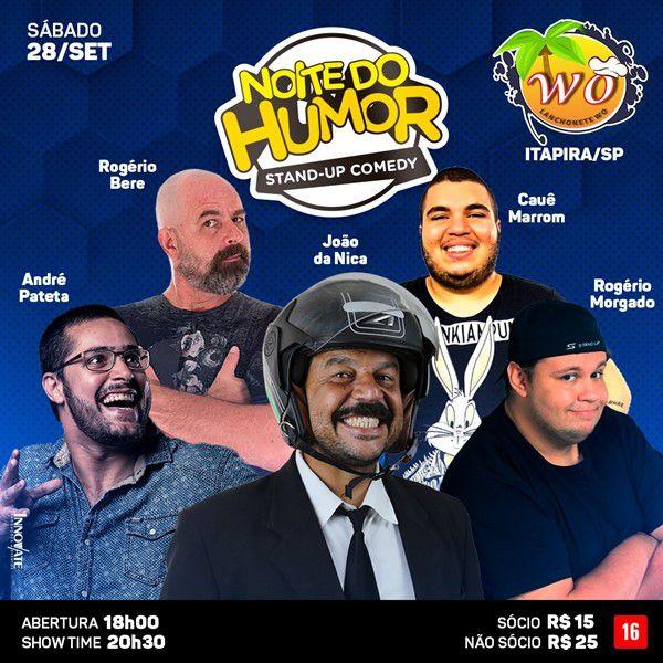 Noite do Humor - Lanchonete W.O - 28/09/19 - Itapira - SP