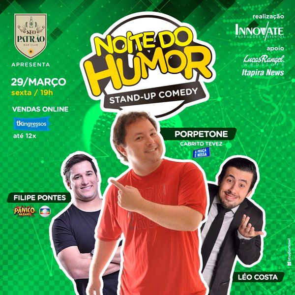 Noite do Humor - Seo Patrão Bar Club - 29/03/19 - Taubaté - SP