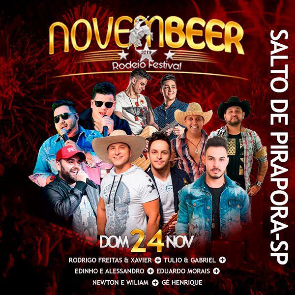 NovemBeer Rodeio Festival - Domingo - 24/11/19 - Salto de Pirapora - SP