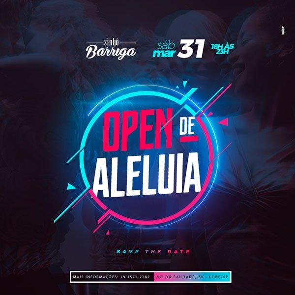 Open de Aleluia - Sinhô Barriga - 31/03/18 - Leme - SP