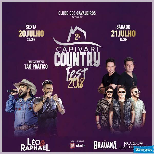 Pacote Capivari Country Fest - 20 a 21/07/18 - Capivari - SP