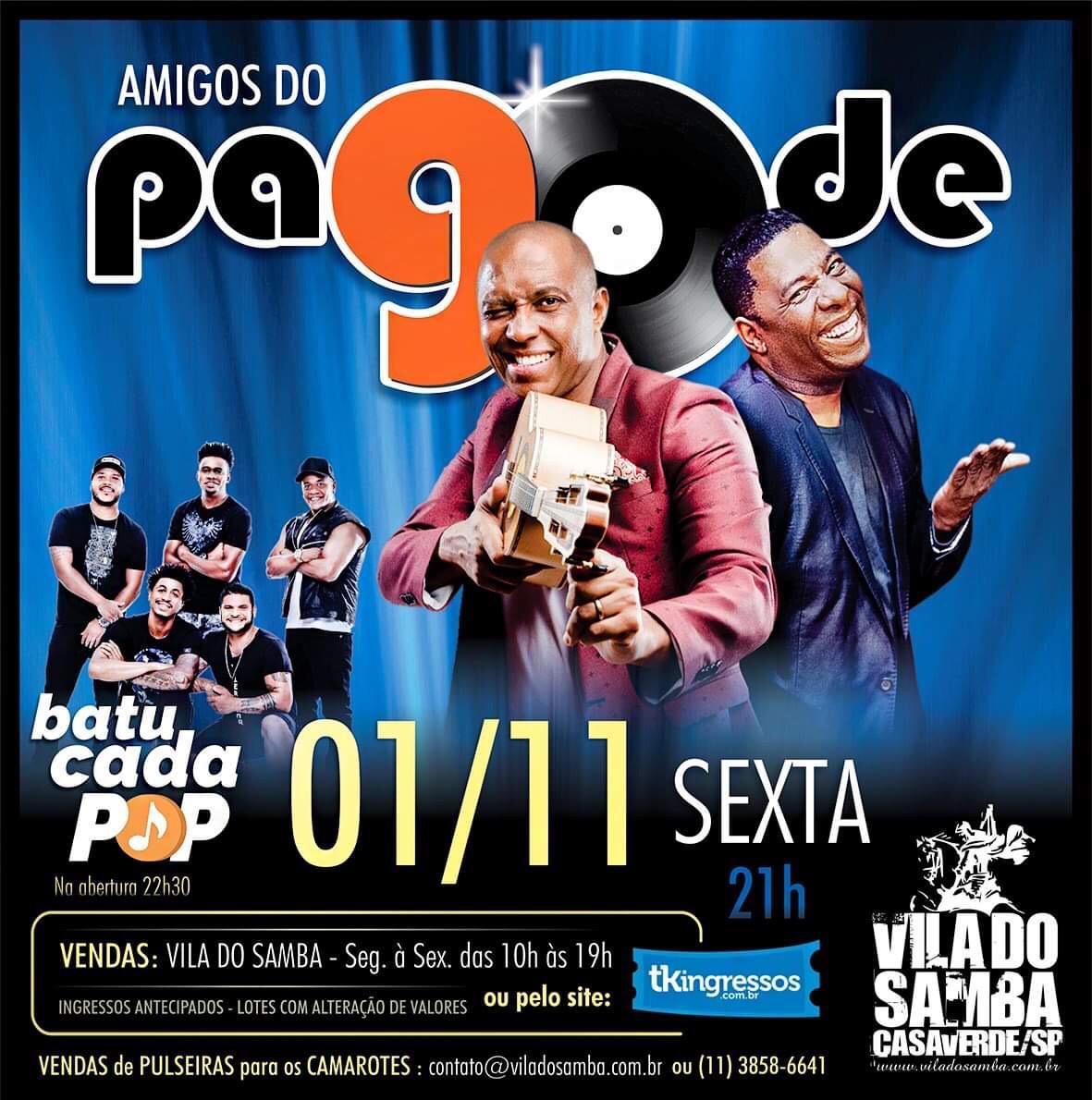 Pagode 90 - Vila do Samba - 01/11/19 - São Paulo - SP