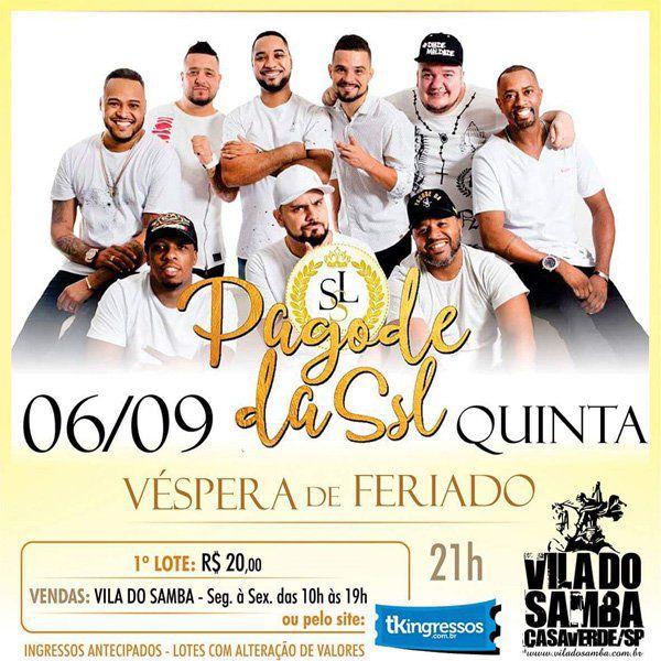 Pagode da Segunda sem Lei - Vila do Samba - 06/09/18 - São Paulo - SP