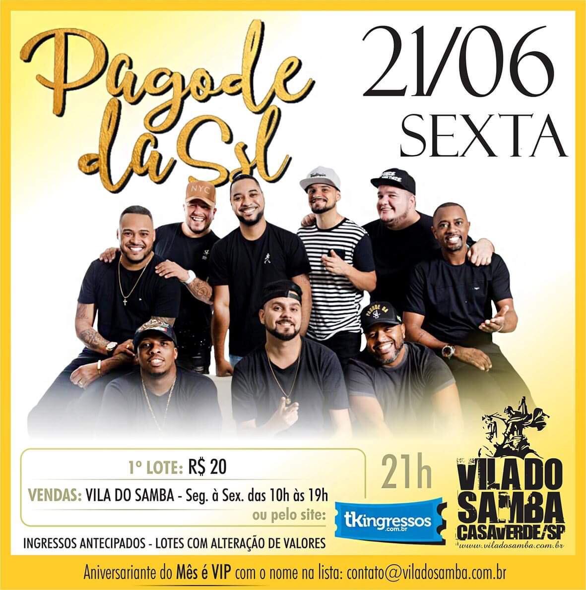 Pagode da SSL - 21/06/19 - São Paulo - SP
