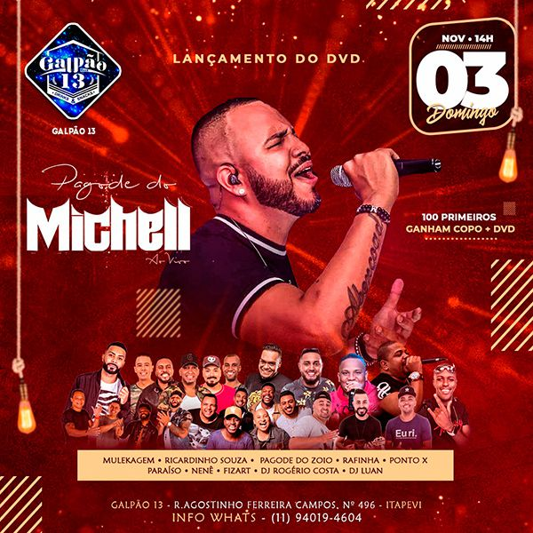 Pagode do Michell - 10/11/19 - Itapevi - SP
