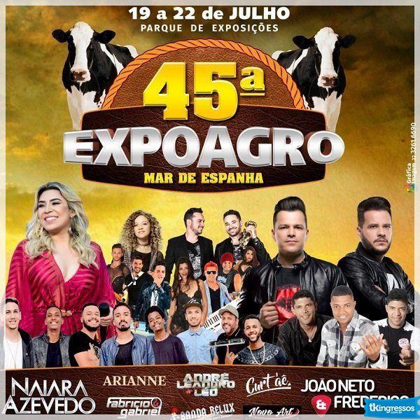 Passaporte 45ª ExpoAgro - 19 a 22/07/18 - Mar de Espanha - MG