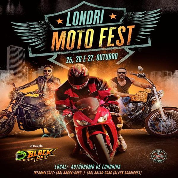 Passaporte Londri Moto Fest - 25, 26 e 27/10/19 - Londrina - PR