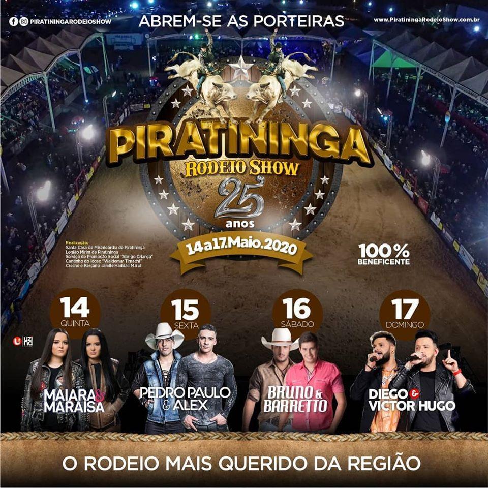 Piratininga Rodeio Show 14 a 17/05/20 - Piratininga - SP