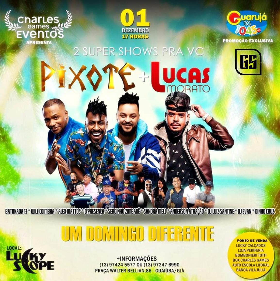 Pixote e Lucas Morato - 01/12/19 - Guarujá - SP