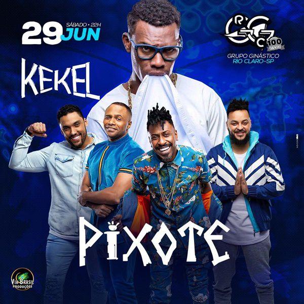Pixote + Kekel - Via Brasil Produções - 29/06/19 - Rio Claro - SP