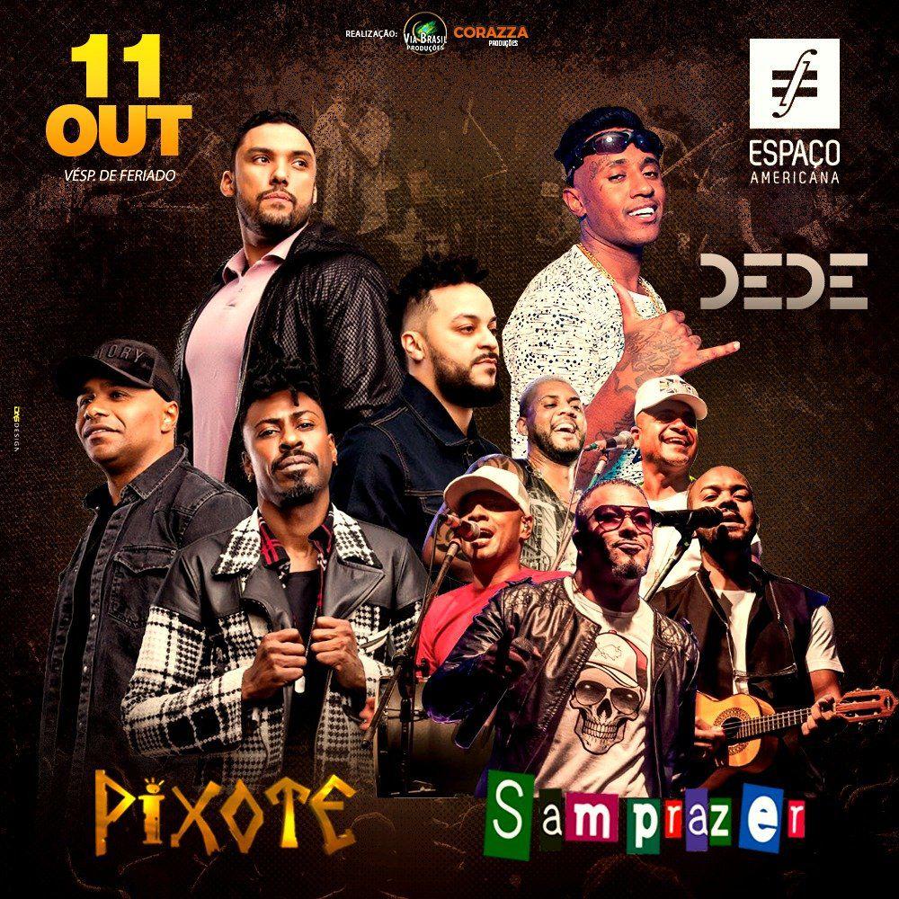 Pixote - Samprazer - Dede - Via Brasil - 11/10/18 - Americana - SP