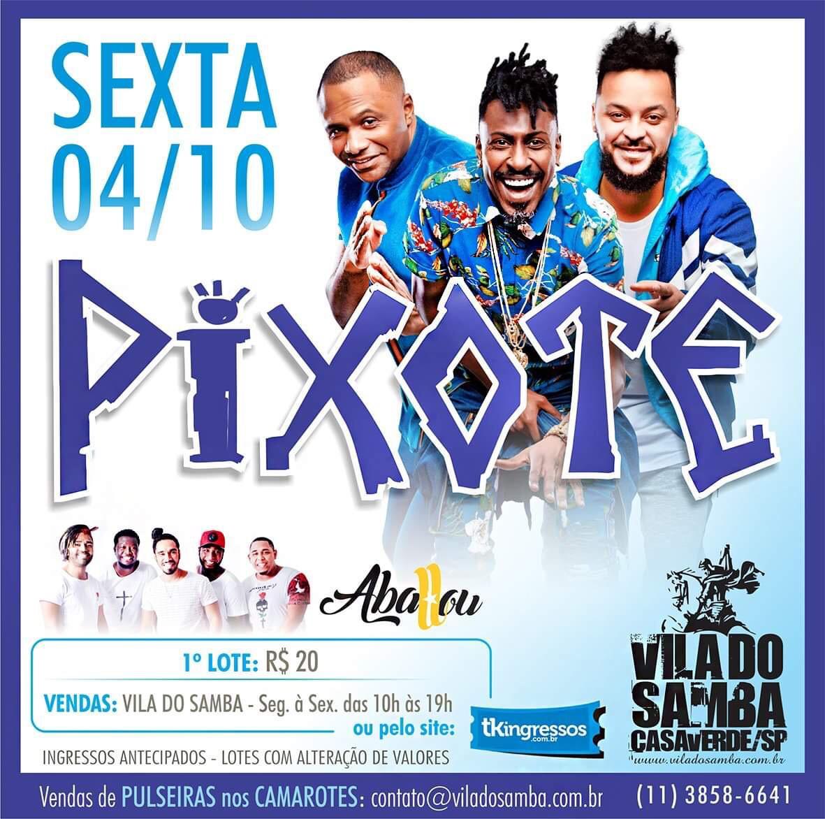 Pixote - Vila do Samba - 04/10/19 - São Paulo - SP