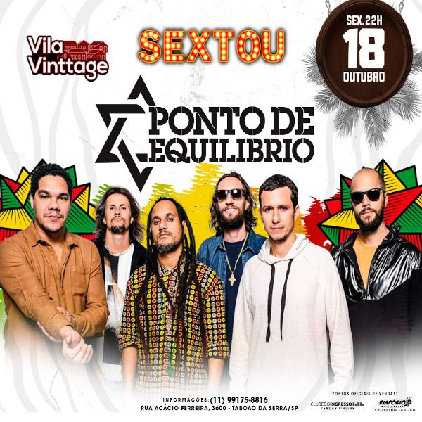 Ponto de Equilíbrio - Vila Vinttage - 18/10/19 - Taboão da Serra - SP