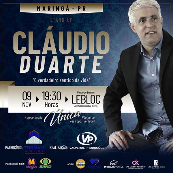 Pr. Cláudio Duarte - O Verdadeiro Sentido da Vida - 09/11/19 - Maringá - PR