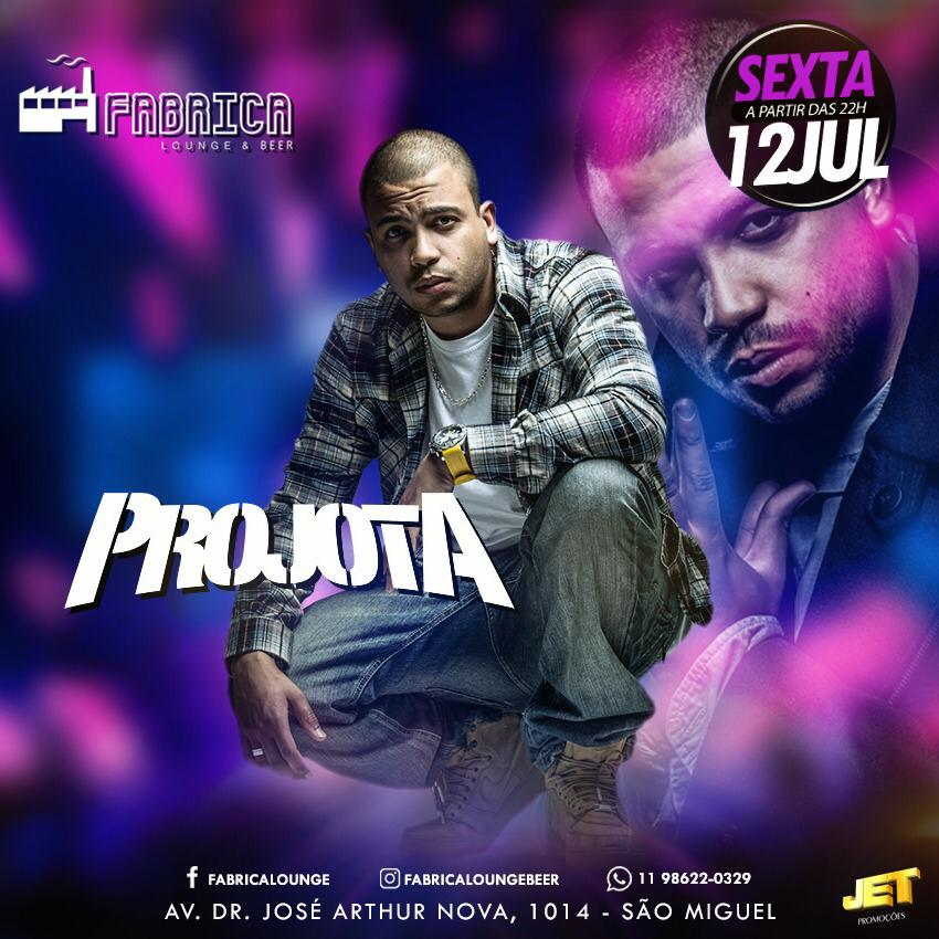 Projota - Fabrica Lounge - 12/07/19 - São Paulo - SP