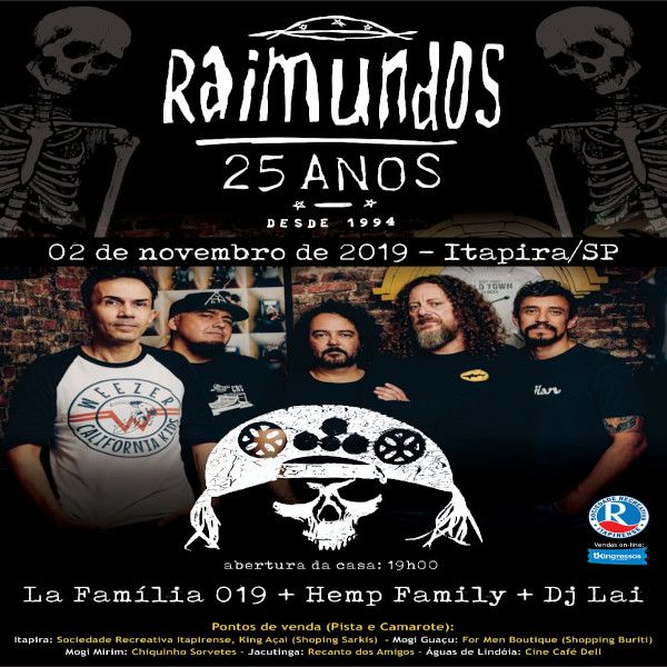 Raimundos 25 Anos - 02/11/19 - Itapira - SP
