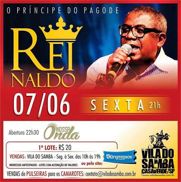 Reinaldo - Vila do Samba - 07/06/19 - São Paulo - SP