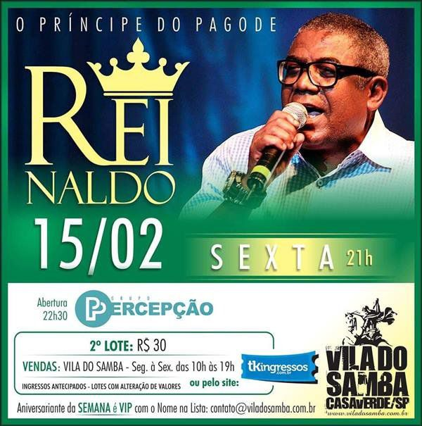 Reinaldo - Vila do Samba - 15/02/19 - São Paulo - SP