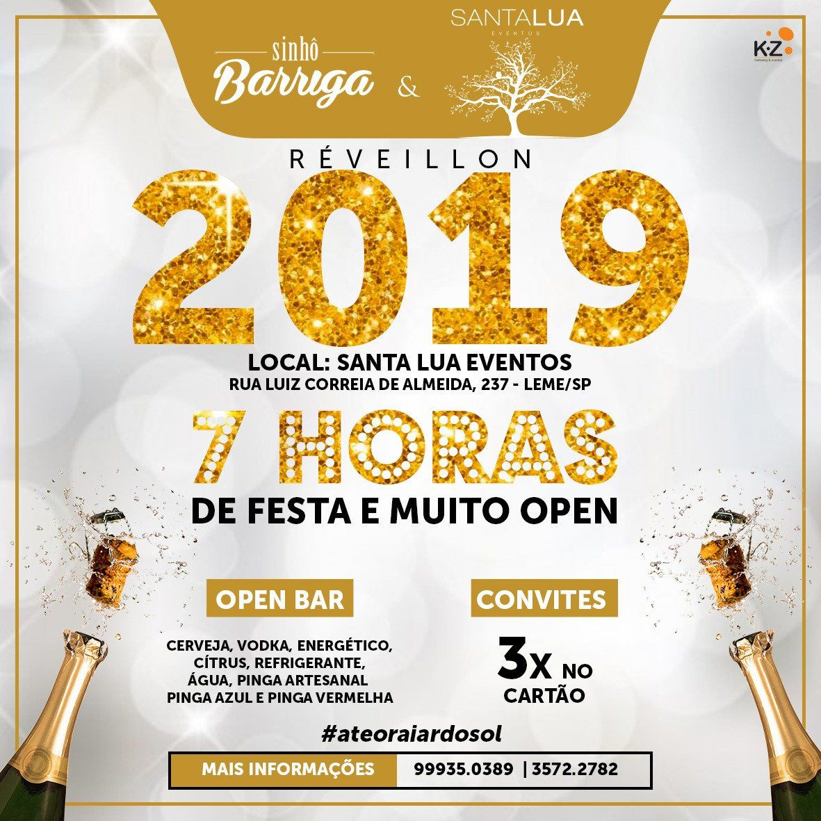 Réveillon 2019 - Sinhô Barriga - 31/12/18 - Leme - SP