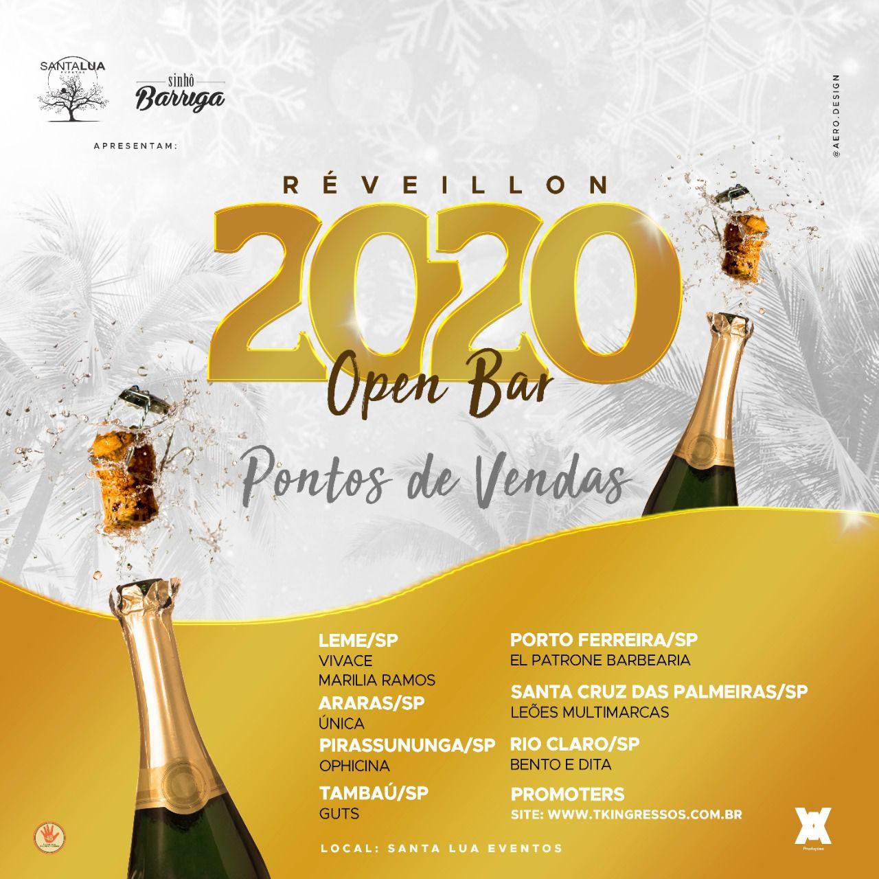 Réveillon 2020 Open Bar - Sinhô Barriga - 31/12/19 - Leme - SP