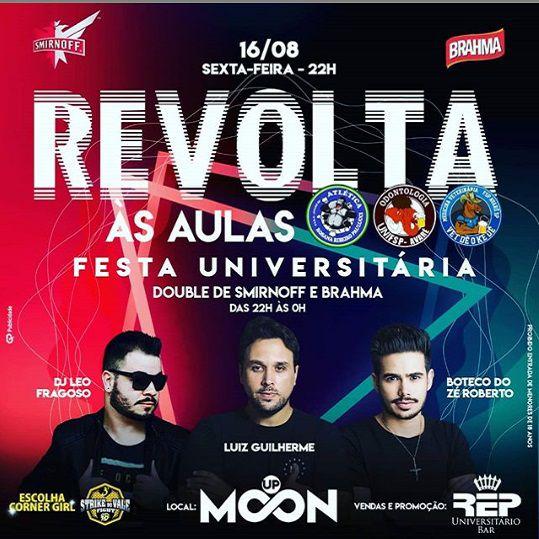 Revolta às Aulas - Moon Up - 16/08/19 - Avaré - SP