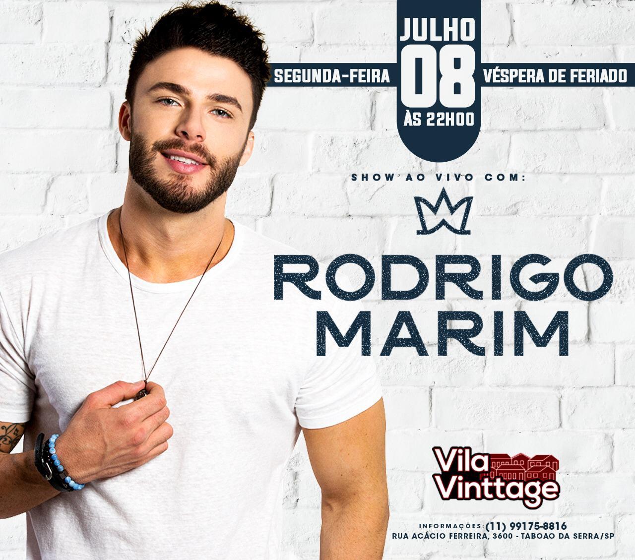 Rodrigo Marim - Vila Vinttage -  08/07/19 - Taboão da Serra - SP