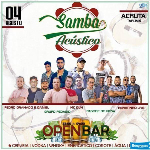 Samba Acústico - 04/08/18 - Tarumã - SP