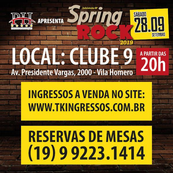 Spring Rock 2019 - 28/09/19 - Indaiatuba - SP