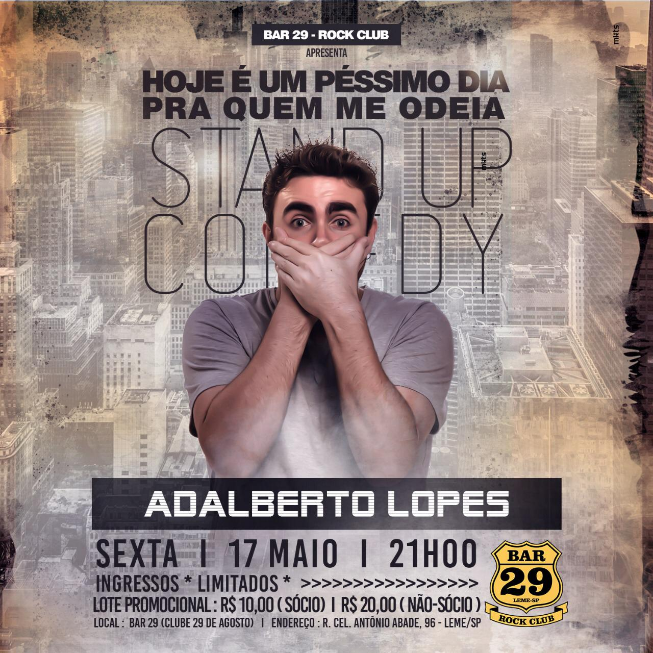 Stand Up Adalberto Lopes - 17/05/19 - Leme - SP