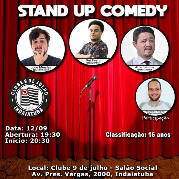 Stand Up Comedy - 12/09/19 - Indaiatuba - SP