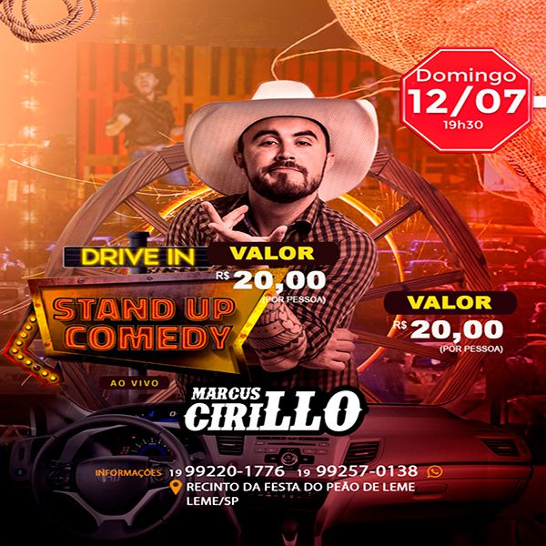 Stand Up Comedy com Marcus Cirillo - 12/07/20 - Leme - SP