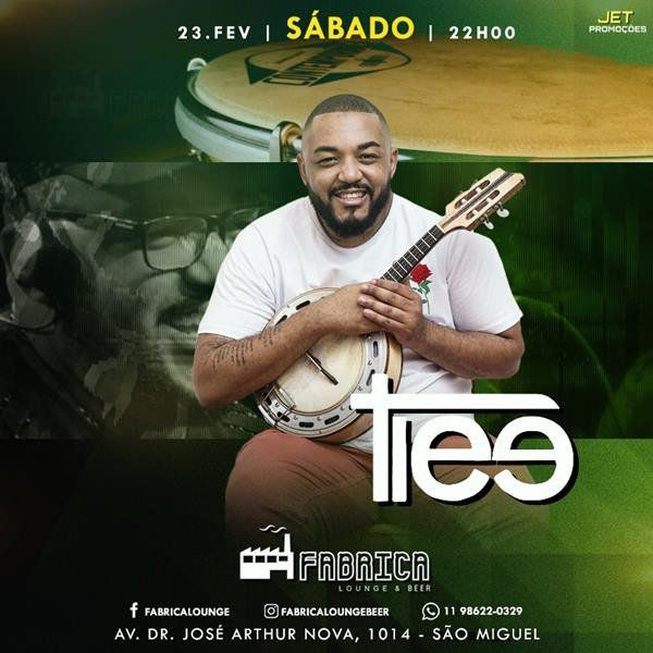 Tiee - Fabrica Lounge & Beer - 23/02/19 - São Paulo - SP