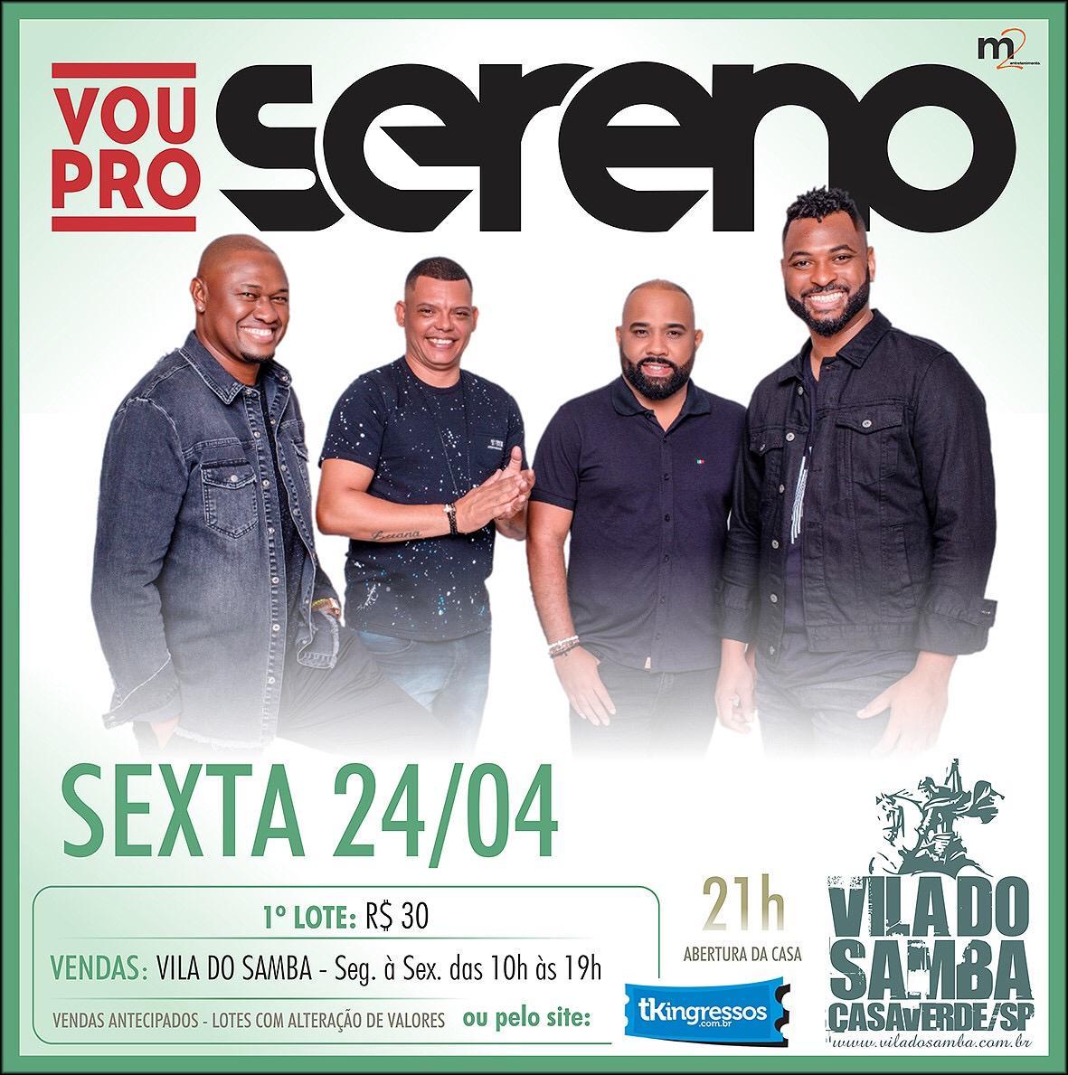 Vou Pro Sereno - Vila do Samba - 24/04/20 - São Paulo - SP