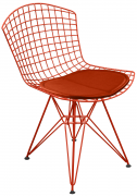 Cadeira Bertoia DKR com Assento - Pintada Epoxi - Diversas Cores - Linha Color