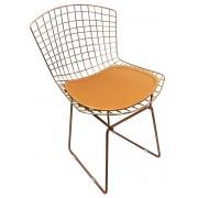 Cadeira Bertoia Tradicional Cobre Rose Gold com Assento
