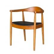 Cadeira Nivea assento revestido em pu madeira natural