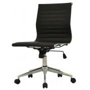 Cadeira Office Sevilha PU Baixa Sem Braço Preta