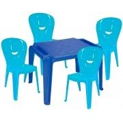 Kit Infantil Mesa Dona Chica e Cadeira Vice Azul - Ponta de estoque